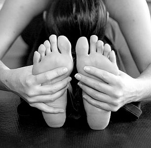 Healthy feet with yoga